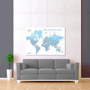 bílo modrá mapa světa rozšířená 2
