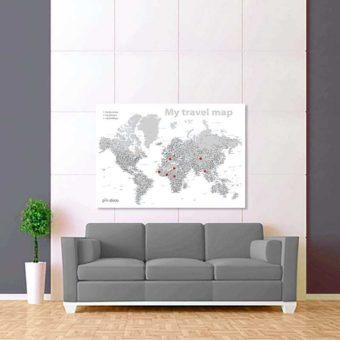 bílo šedá mapa světa rozšířená 2