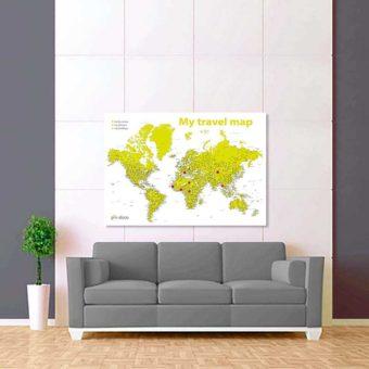 bíle zelená mapa světa rozšířená 2