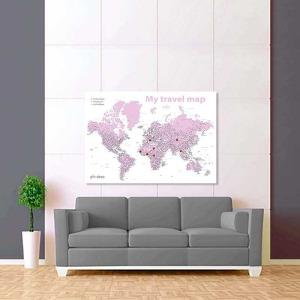 bílá světle fialová mapa světa rozšířená 2