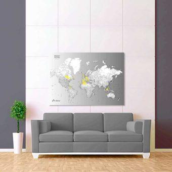 šedo bílá vybarvovací mapa celého světa 2