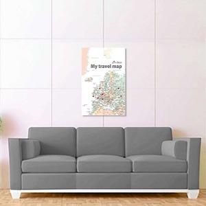 barevná mapa evropy bílá 2