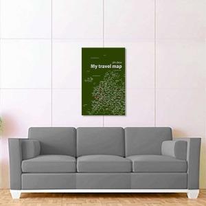 tmavě zelená mapa evropy 2
