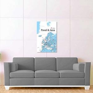modro bílá mapa evropy 2