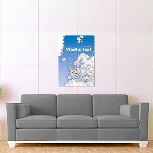 bílo světle modrá mapa evropy 2