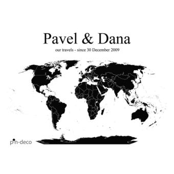 bílo černá mapa světa
