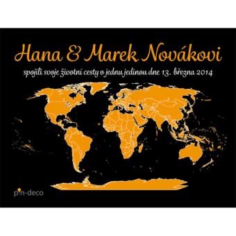 černo oranžová mapa