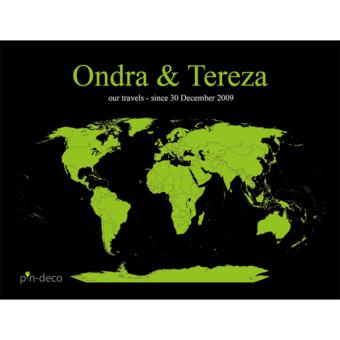 černo zelená mapa světa