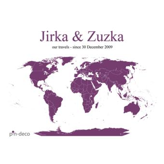bílo tmavě fialová mapa