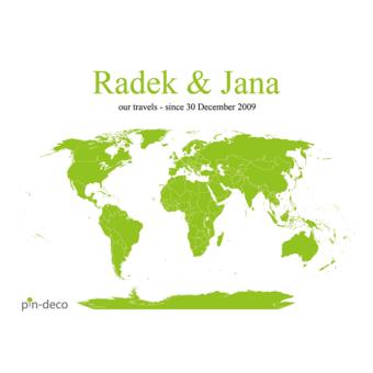 bílo zelená mapa svět