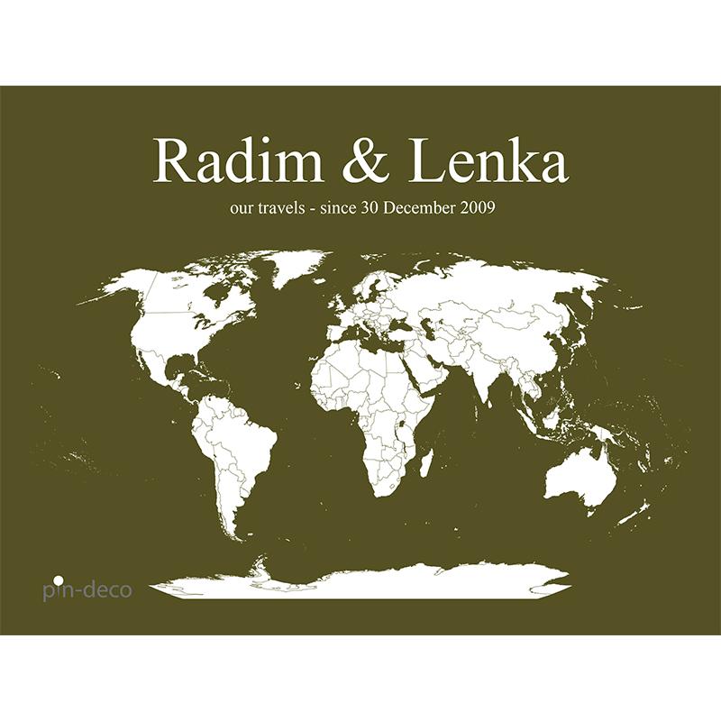 zeleno bílá mapa světa