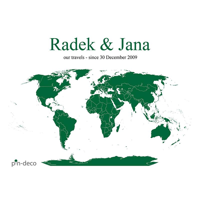 bílo tmavě zelená mapa