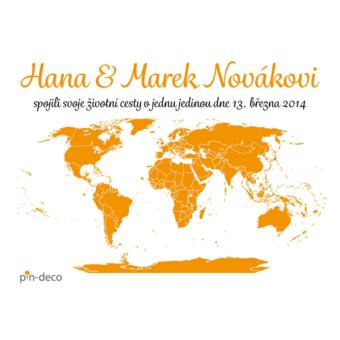 bílo oranžová mapa