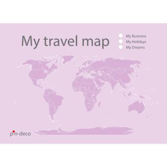 světle fialová mapa světa