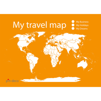 oranžovo bílá mapa světa