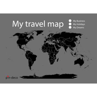šedo černá mapa světa