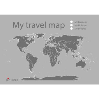 světle šedá mapa světa