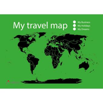 zeleno černá mapa světa