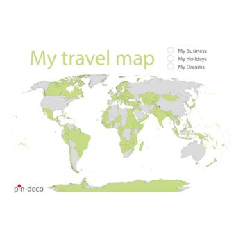bílo zelená mapa světa