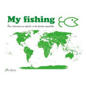světle zelená mapa rybáře
