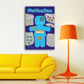 světle modrý voodoo panáček 2