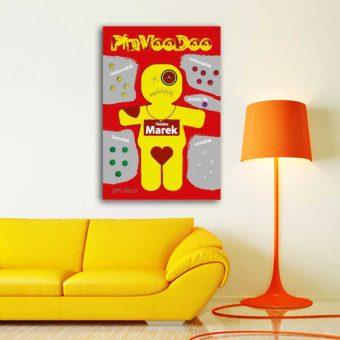 červeně žlutý voodoo panáček 2