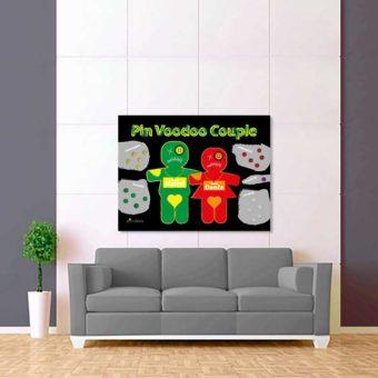 zeleno červení voodoo panáčci 2