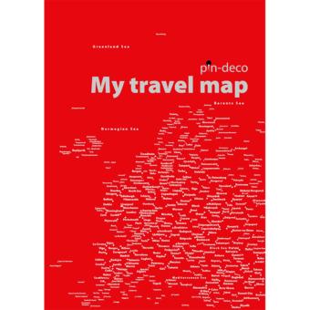 červená mapa evropy