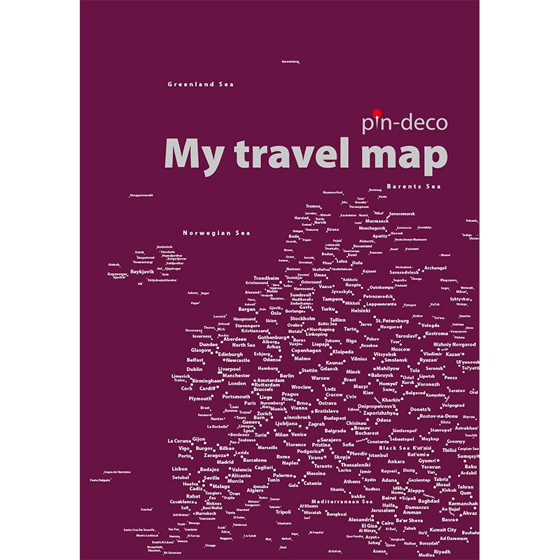 fialová mapa evropy