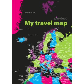 černo barevná mapa evropy