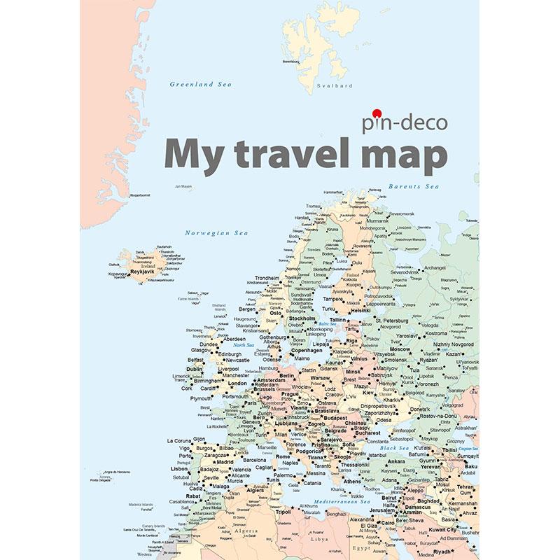 barevná mapa evropy
