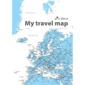 bílo modrá mapa evropy