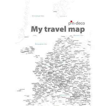 bílá mapa evropy