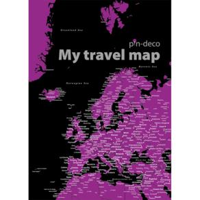 černo fialová mapa evropy