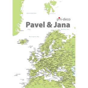 zeleno bílá mapa evropy