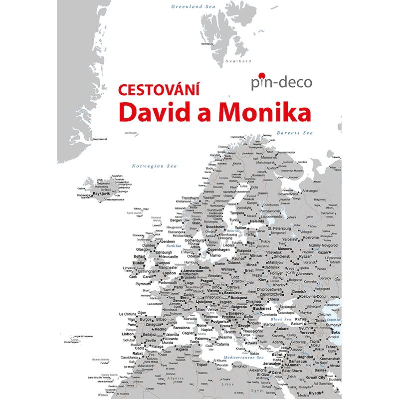 šedo bílá mapa evropy
