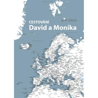 tmavě modro bílá mapa evropy