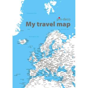 světle modrá mapa evropy