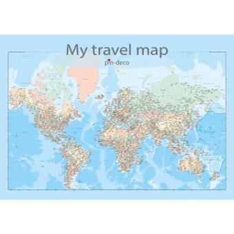 barevná mapa celého světa rozšířená