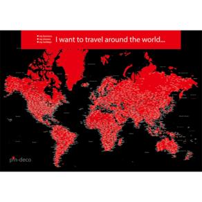 černo červená mapa světa rozšířená