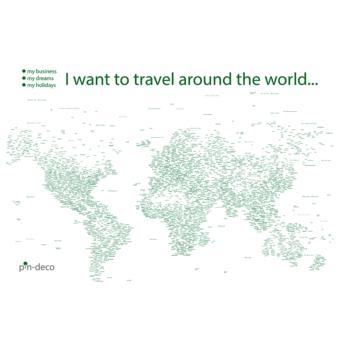 bílo zelená mapa světa rozšířená