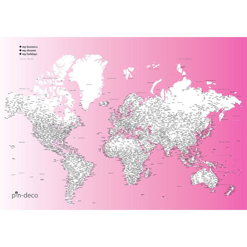 fialově bílá mapa světa rozšířená