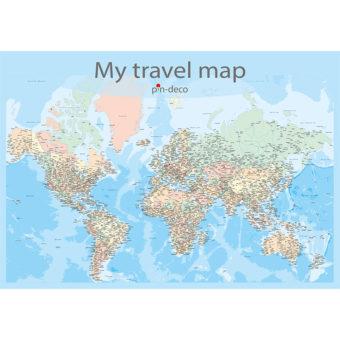 barvená mapa světa rozšířená