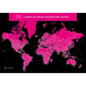 černě fialová mapa světa rozšířená