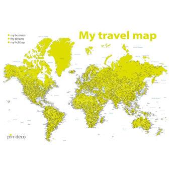 bíle zelená mapa světa rozšířená