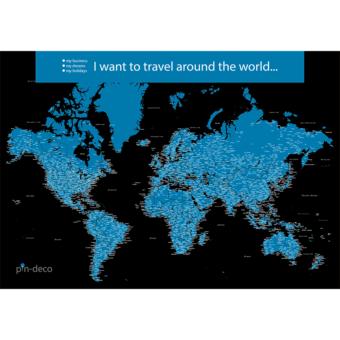 černo modrá mapa světa rozšířená
