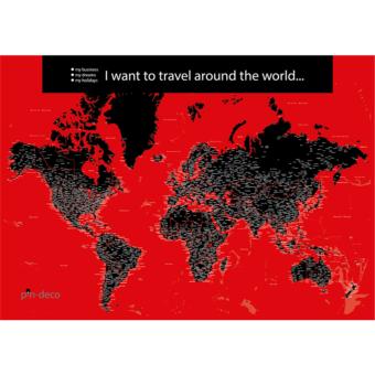 červeno černá mapa světa rozšířená