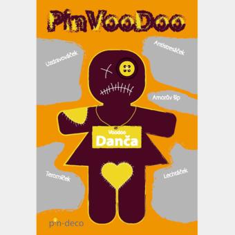 žlutě fialová voodoo panenka