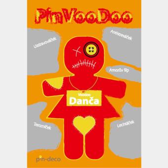 žlutě červená voodoo panenka