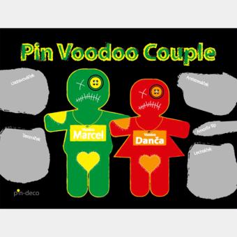 zeleno červení voodoo panáčci